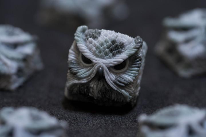 Alpha Keycaps - Winter Camo keypora