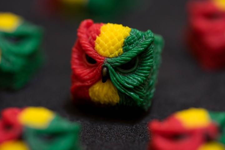 Alpha Keycaps - Rastafarian keypora